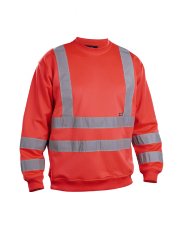 Blaklader 3341 Sweatshirt High Vis (Red High Viz)